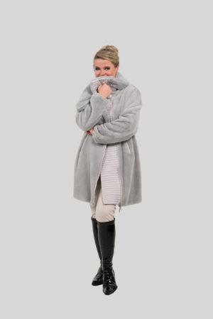 Sarah Fur Grey AW19 4